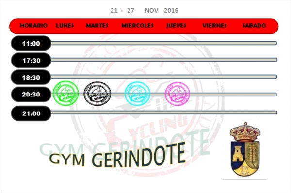 GYM AYTO. GERINDOTE  21-27 NOV