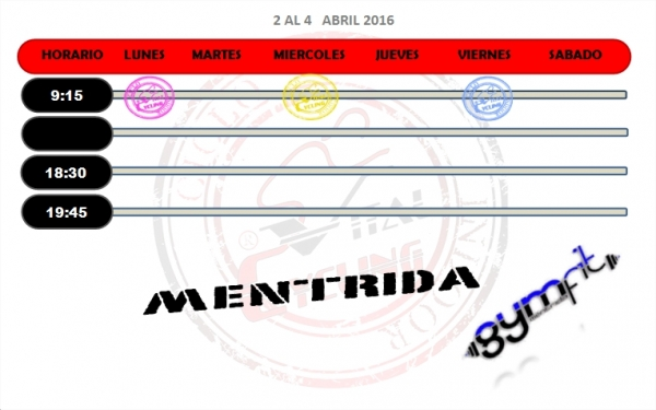 GYM FIT  4-9 ABRIL