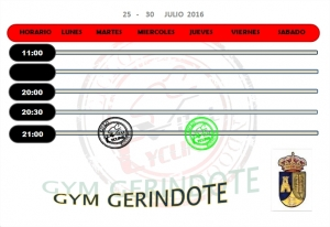 GYM AYTO. GERINDOTE  25 -  30  JUNIO