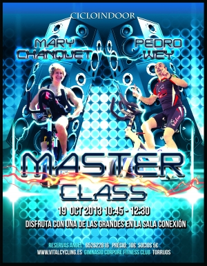 Máster Class Ciclo Indoor Mary Chanquet  y Pedro Wey