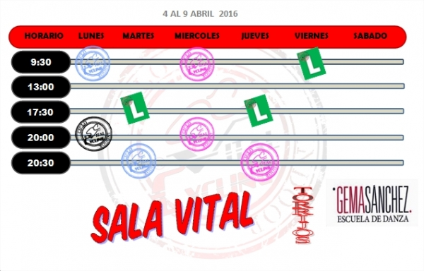 SALA VITALCYCLING TORRIJOS 4-9 ABRIL